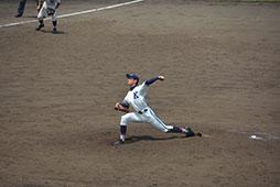 ゲームを立て直した勝利投手の横田<br />
