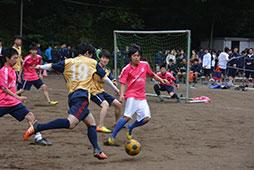サッカーは第二グラウンドにて