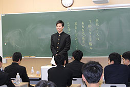 一人ひとりスピーチをするクラスも