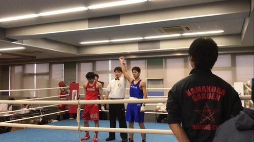 インターハイ県予選ライト級優勝 高3A松木健太